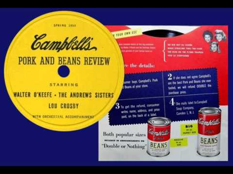 ANDREWS SISTERS - Pork and Beans Review (1950) Incredibly Rare Radio Commercial
