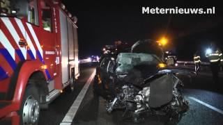 Ernstig ongeval A28 Rouveen