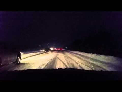 Spinout on highway 118 in Halifax Nova Scotia