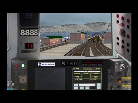 OpenBVE HD: Operating NYC Subway R160B Siemens Q Train (57th St.-7th Ave to Coney Island)