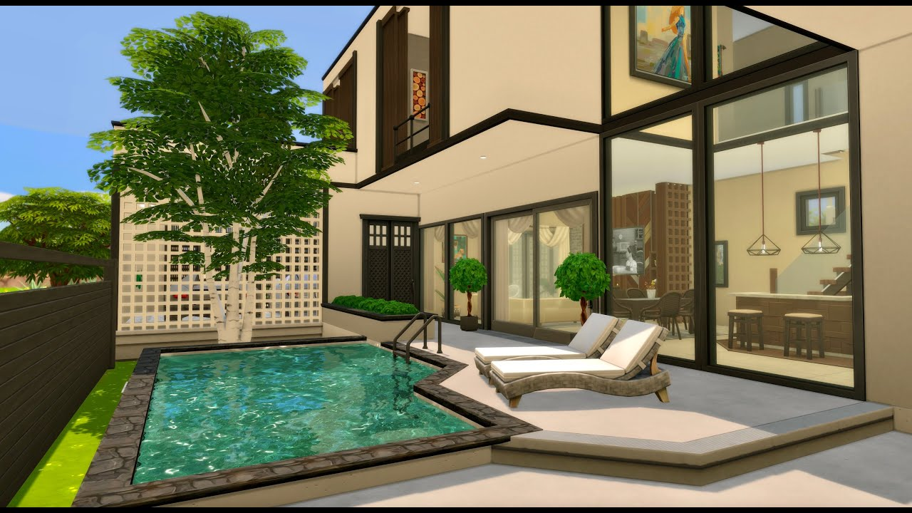 Thailand holiday villa || THE SIMS4 SPEED BUILDING || CC LINK || STOP MOTION