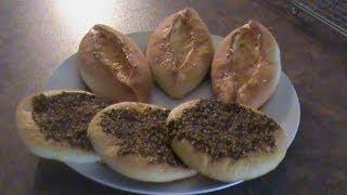 Manakeesh  Za'atar and cheese مناقيش بالجبنة والزعتر