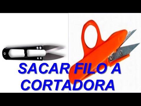 Como sacar filo al cortador - tijerin | mecanica confeccion