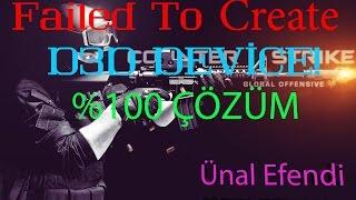 CS:GO Failed To Create D3D Device! Hatası Kesin Çözümü