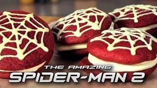 The Amazing Spiderman Red Velvet Whoopie Pies   Just Add Sugar