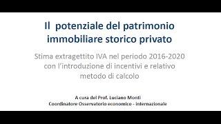 A.D.S.I. - Il Potenziale del patrimonio immobiliare storico privato