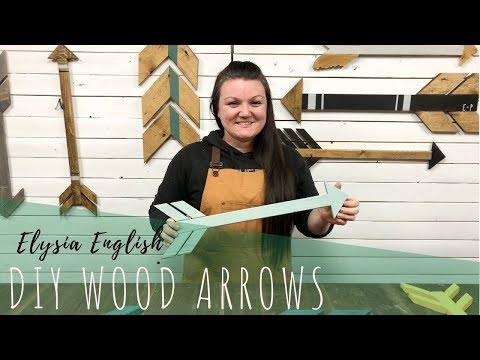 DIY Wood Arrows | How to make Wooden Arrows | Making Decor Arrows  DIY Room Decor
