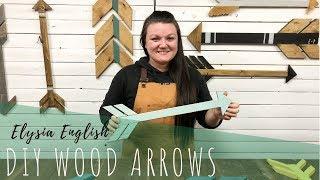 DIY Wood Arrows | How to make Wooden Arrows | Making Decor Arrows  DIY Room Decor