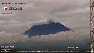 Gunung Agung Bali Still Active - 21st Dec 2017 -  06:30-10:41