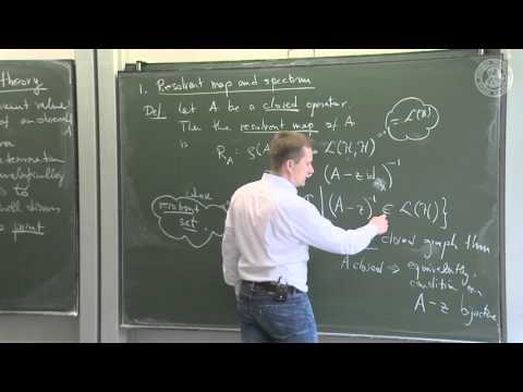 Spectra and perturbation theory - L08 - Frederic Schuller