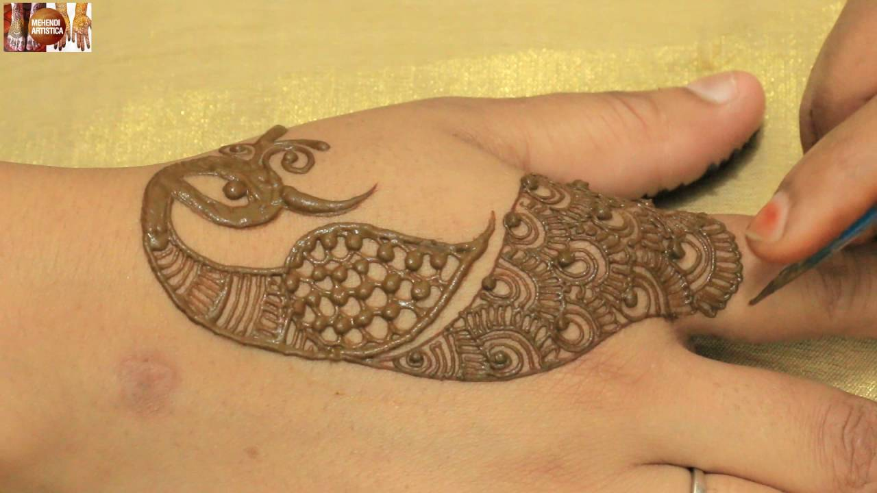 Mehndi Peacock Tattoos : Different stylist peacock henna mehndi tattoo for hands mehendi