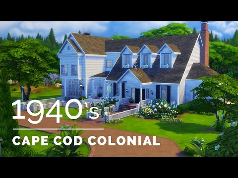 Sims 4  |  Decade Build Series  |  1940s Cape Cod Colonial
