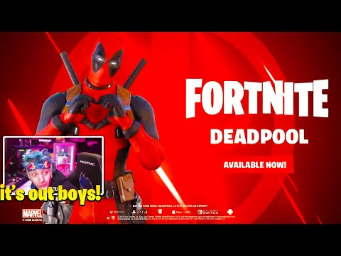 Ninja Reacts Fortnite Deadpool Skin Trailer (NEW!)