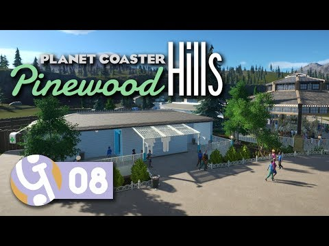 Staff Room & Utilities | Pinewood Hills | Let's Play Planet Coaster #08
