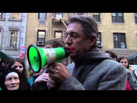 євромайдан   Нью Йорк! 12012013 Ukrainian UN Ambassador Yuriy A  Sergeyev supports