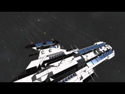Space Engineers -  Deep Space Exploration Ship - Battle demonstration