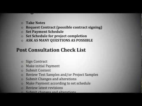 Consultation Checklist | Kourtport.com Web Design