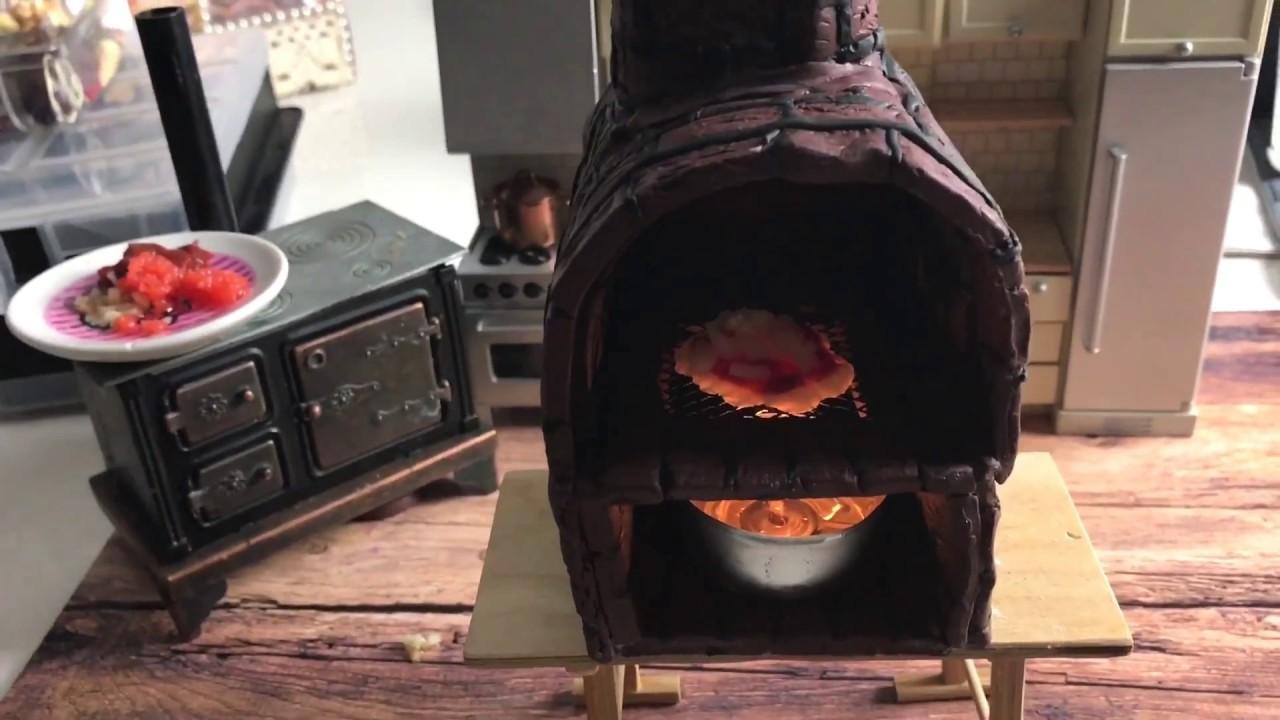 mini stein ofen aus fimo ist fertig mini pizza. Black Bedroom Furniture Sets. Home Design Ideas