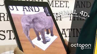 Feeding Animal Interaction with Animal 4D+ Augmented Reality Flashcards | Octagon Studio