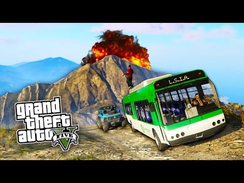 GTA 5 EPIC Mount Chiliad ADVENTURE on PC!!! GTA 5 Crazy Bus Challenges!!! (GTA 5 PC Gameplay Online)