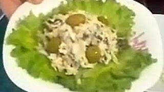 Салат из морепродуктов(Простой рецепт салата из морепродуктов без рыбы. Это обычный салат из морепродуктов, но с некоторыми измене..., 2014-03-03T07:50:31.000Z)