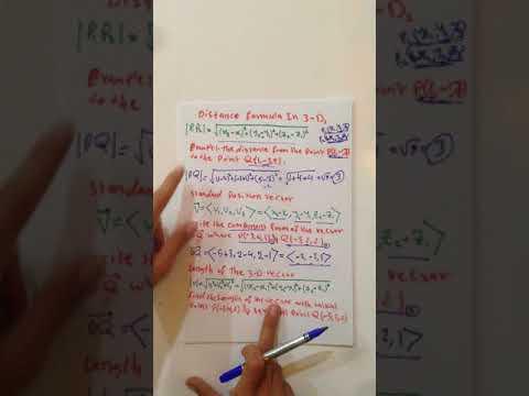 distance formula in three D