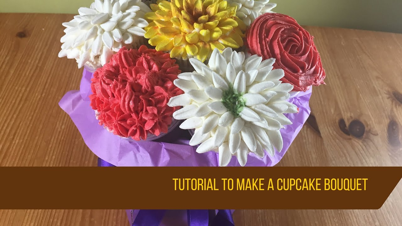 How to make a cupcake bouquet - YouTube