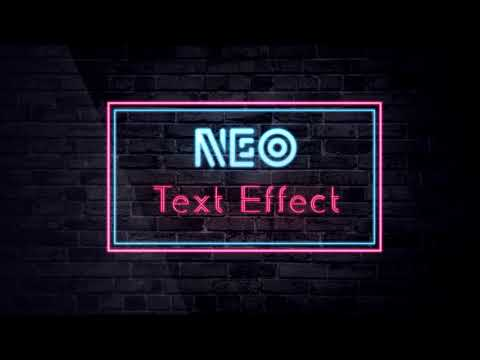 Neon Light Effect | Photoshop CC _ How to make text effect