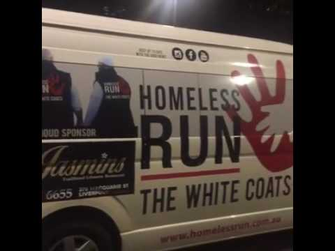 The White Coats Charity Feeding the Homeless in Sydney, Australia