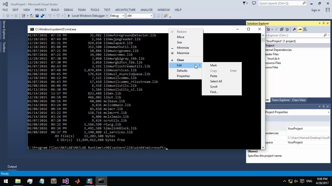 visual studio c++ convert exe to dll