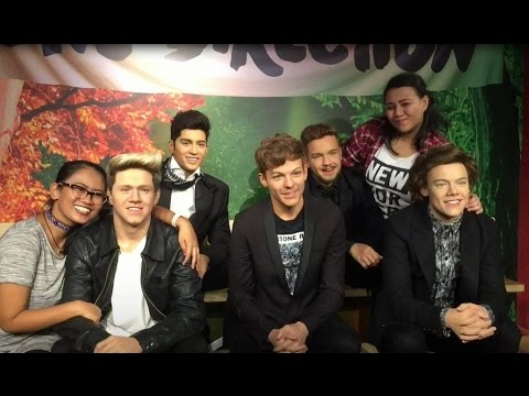 One Direction wax figurines at Madame Tussaud's Sentosa