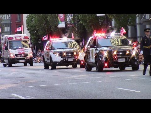 Emergency Services & Military  in Canada Day Parade 2015  - Vancouver BC