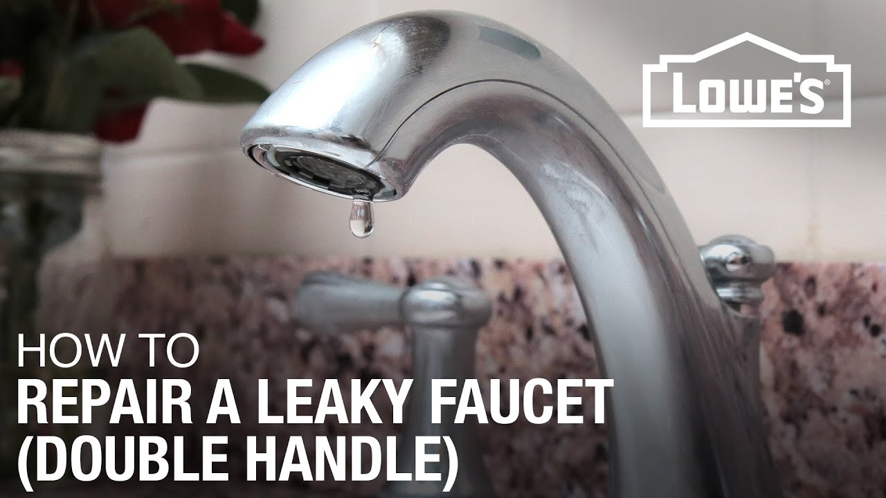 Leaky Bathroom Faucet Youtube how to fix a dripping or leaky double handle faucet - youtube