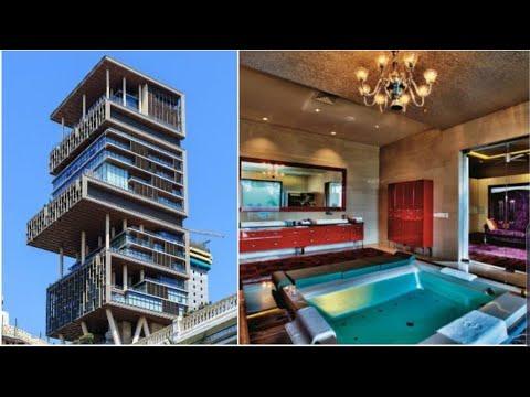 Mukesh Ambani New House Inside View Antilia Tower Mumbai Mukesh Ambani House Antilia Insideview Youtube