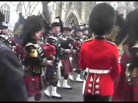 Queen Mother Funeral Pipes Procession