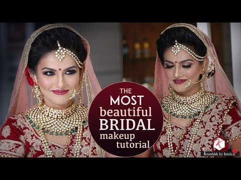 Beautiful Bridal Tutorial For Indian Brides | 2018 Latest Bridal Makeup Tutorial | Krushhh By Konica