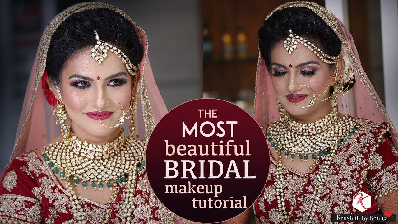 bridal wedding makeup tutorials for indian brides | 2018 latest makeup  videos | krushhh by konica