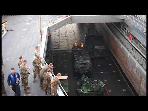 Dawn Blitz 2017 USS Rushmore (LSD 47) Well Deck Operations, Pt. 1