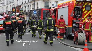 Pompiers de Paris SDIS 78 Explosion Rue de Trévise  Paris Fire Dept on scene Gas explosion