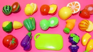 Учим овощи и фрукты на английском языке. Learn vegetables and fruits names with toy velcro cutting