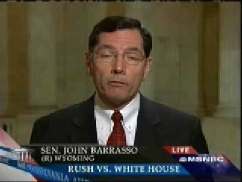 Sen. John Barrasso Refuses to Say Rush Limbaugh Was Wrong For Wanting Obama To Fail