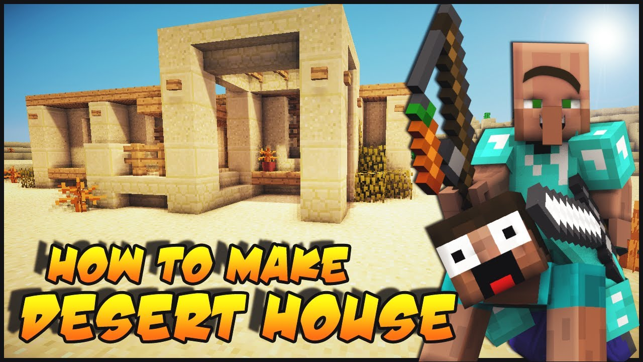 Minecraft how to make a desert survival house youtube for How to build a small home