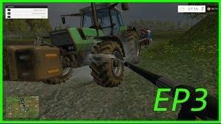 Farming Simulator 2015 #3 Lavando Os Tratores Imundos