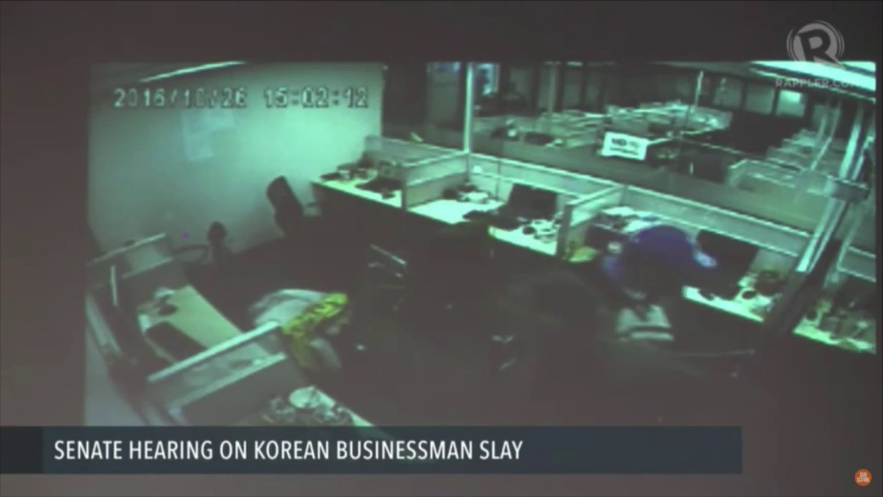 CCTV footage shows police allegedly planting drugs in office