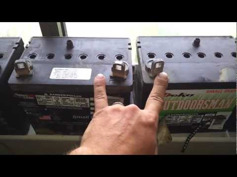 Inside view of lead acid battery before and after desulfator