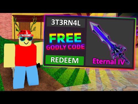 NEW GODLY KNIFE + FREE CODE LEAKS! *Murder Mystery 2*