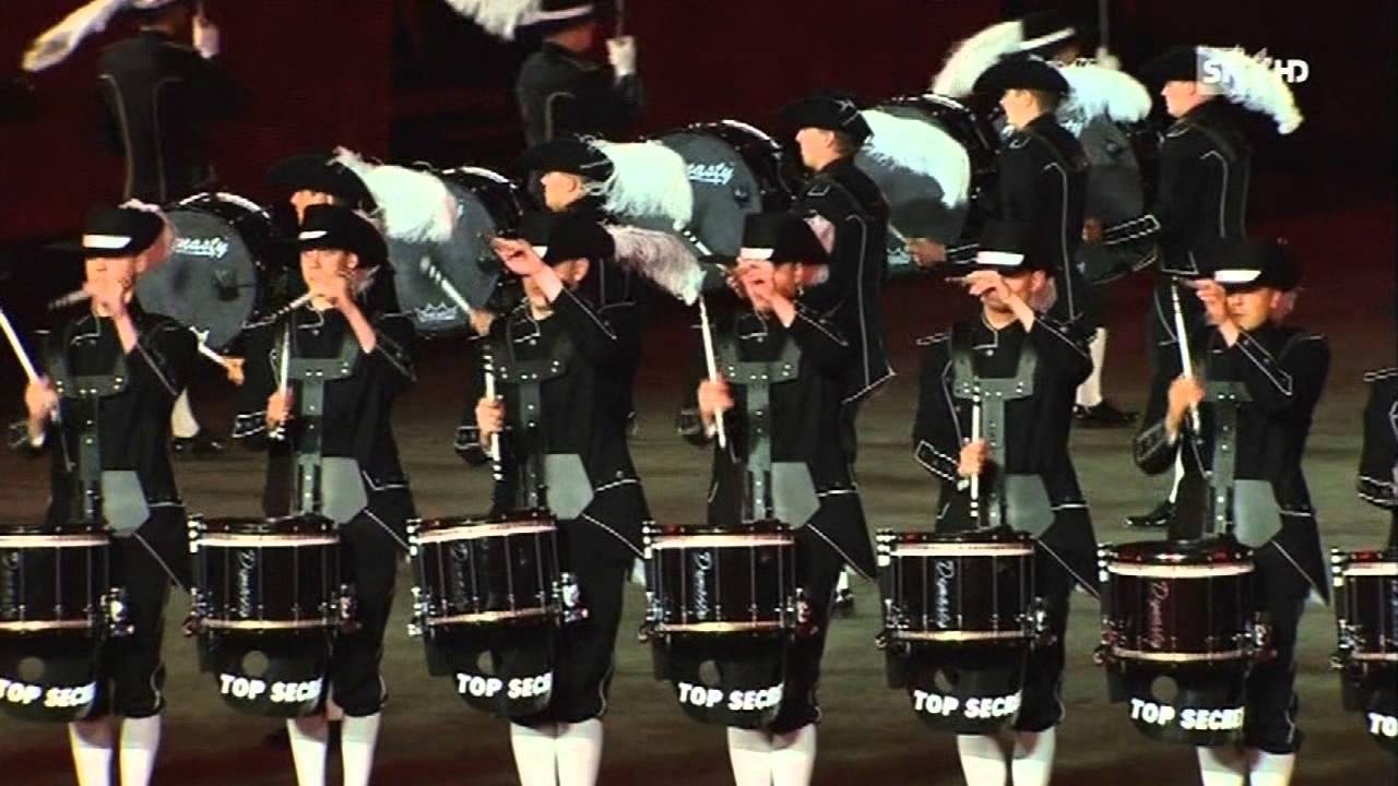 Top Secret Drum Corps The Next Level Basel Tattoo 2012 Youtube