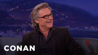 A Hungover Kurt Russell Wooed Goldie Hawn  - CONAN on TBS