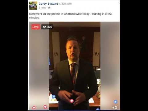 Corey Stewart's Bizarre, Unhinged Response to Charlottesville (8/12/17)