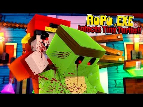 Minecraft  EXE - ROPO  EXE FINDS & INFECTS TINY TURTLE!!!